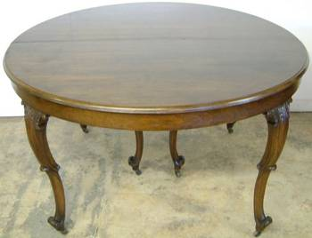 Photo of Antique Round Dining Room Table