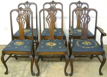 Photo of Antique Set Dining Room Chairs