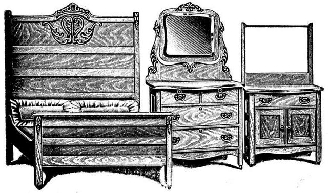 Antique Golden Oak Three Piece Bedroom Suite. Antique Golden Oak Three Piece Bedroom Suite at Antique Furniture US