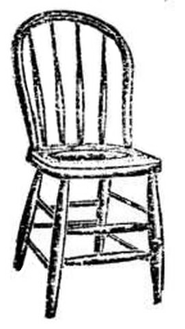 Antique Bow Back Wood Seat Chair At Antique Furniture Us