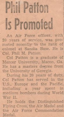 Colonel Patton Newspaper Clipping