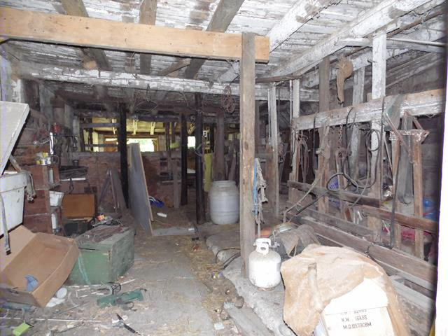 Photo of Interior of Michigan Dairy Barn