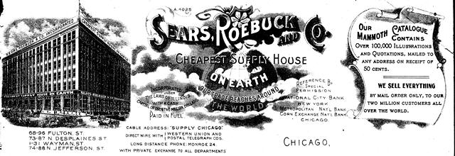 1902 Sears, Roebuck and Co. Letterhead Image