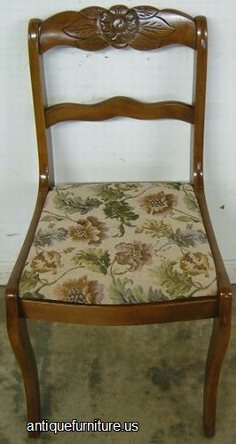 Antique Mahogany Tell City Dining Chair At Antique Furniture.US Part 32