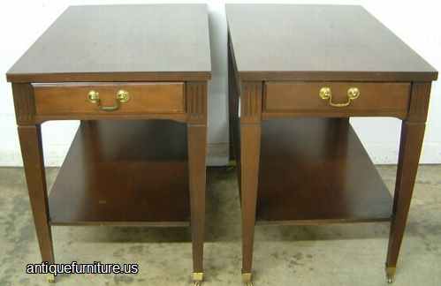Antique Mersman Mahogany End Tables at Antique FurnitureUS