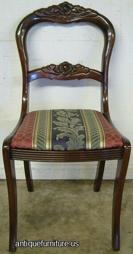 Antique Tell City Mahogany Dining Chair At Antique Furniture.US Part 58