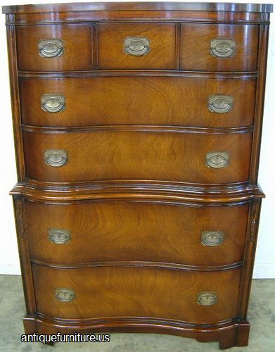Antique Mahogany Drexel Chest At Antique Furniture.US
