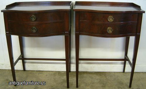 - Antique Pair Flame Mahogany Night Stands At Antique Furniture.US