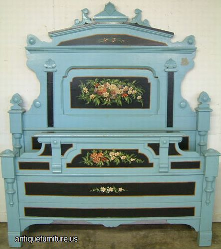 - Antique Paint Decorated Cottage Bed At Antique Furniture.US