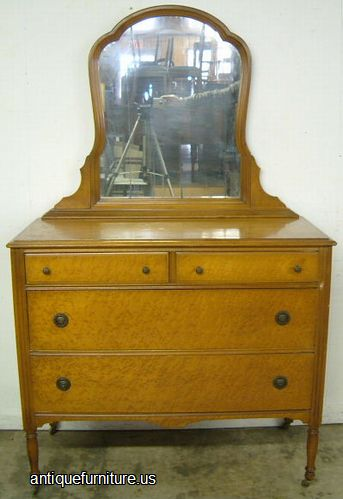 Antique Birdseye Maple Dresser At Antique Furniture.US