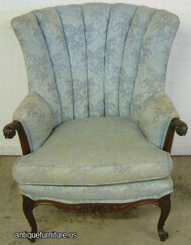 Antique Mahogany French Style Wingback Chair At Antique Furniture.US