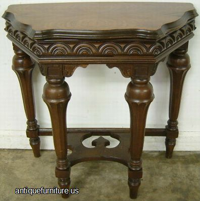 Antique ornate walnut console table at antique furniture us - Ornate hall table ...