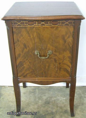 Antique Flame Mahogany Nightstand At Antique Furniture Us