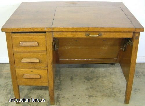 - Antique Oak Typewriter Desk At Antique Furniture.US