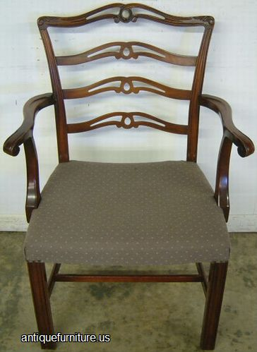 Antique Ribbon Back Mahogany Dining Chair At Antique