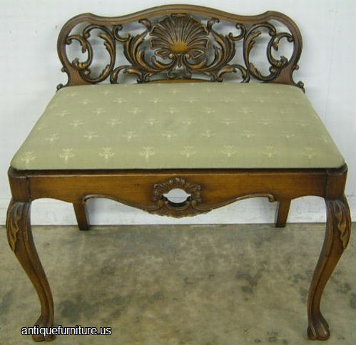 - Antique Romweber Walnut Vanity Bench At Antique Furniture.US