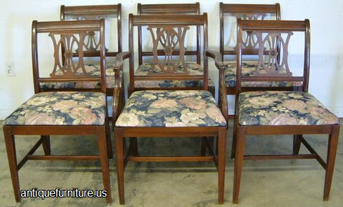 Antique set mahogany dining chairs at antique furnitureus for Dining room furniture auctions