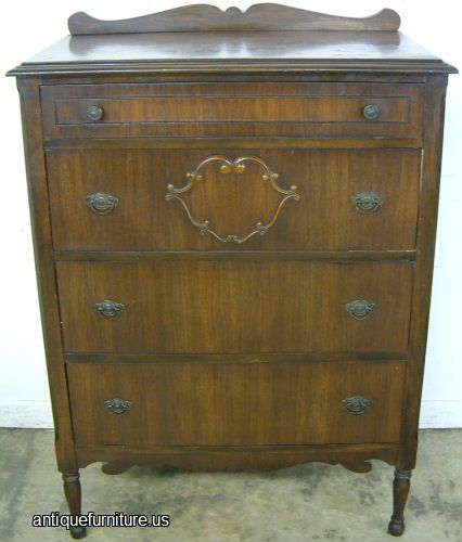Bassett Furniture Atlanta: Antique Walnut Basset Chest At Antique Furniture.US