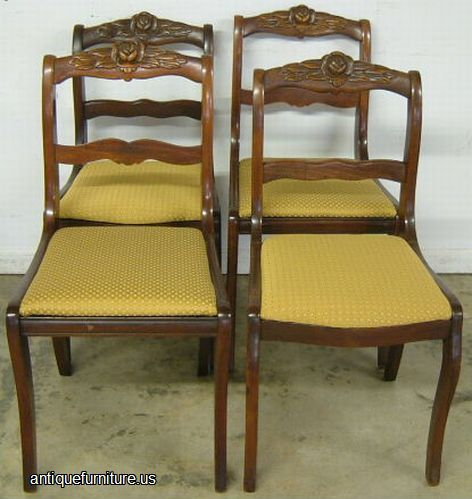Antique Rose Back Chairs At Antique Furniture Us