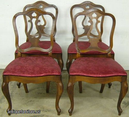 Antique Set French Style Cherry Dining Chairs At Antique Furniture Us
