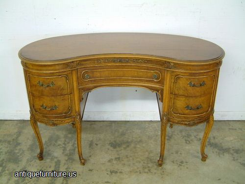 - Antique Walnut French Style Kidney Desk At Antique Furniture.US