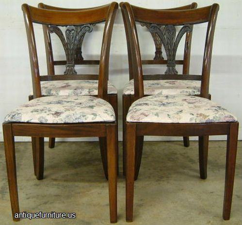 Antique Set Of 6 Mahogany Dining Chairs At Antique Furniture Us