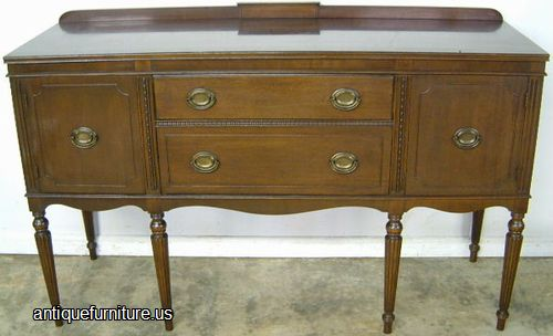 Antique Mahogany Sideboard On Legs At Antique Furniture.US - Antique Sideboard Cabinet Antique Furniture