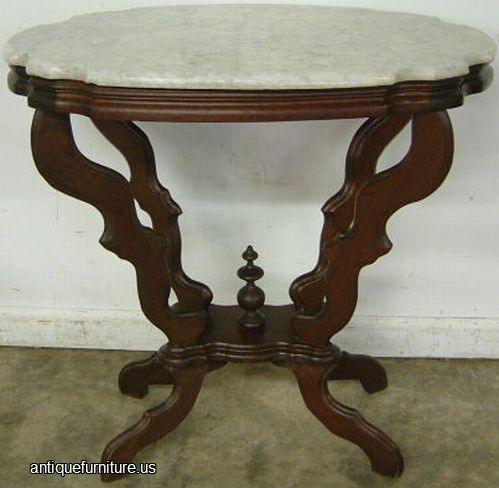 Charming Antique Victorian Marble Turtle Top Table At Antique Furniture.US