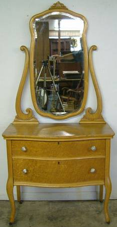 Delightful Antique Birdseye Maple Lowboy Dresser At Antique Furniture.US