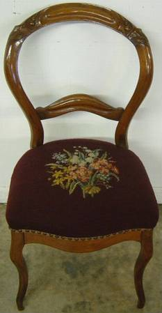 Antique Victorian Needlepoint Chair At Antique Furniture.US