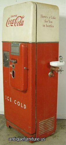Antique Coca Cola Machine With Water Fountain At Antique