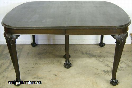 Antique Mahogany Ball Claw Dining Table at Antique FurnitureUS