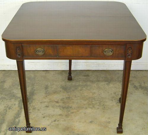 August 2014 Cpo Offers Table Jpg: Antique Mahogany Berkey And Gay Game Table At Antique
