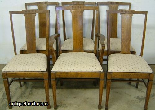 antique set 6 oak dining chairs at antique furniture us
