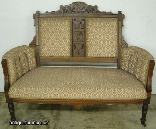 - Antique Walnut Eastlake Loveseat At Antique Furniture.US