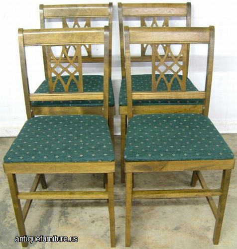 Antique Set Of 4 Folding Chairs At Antique Furniture Us