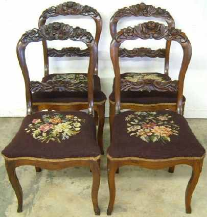 Antique Needlepoint Chairs - Antique Needlepoint Chairs Antique Furniture