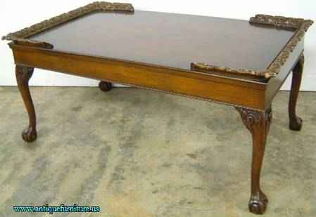 antique ornate mahogany coffee table at antique furniture us. Black Bedroom Furniture Sets. Home Design Ideas