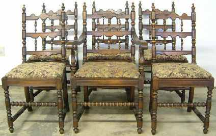 antique set dining chairs at antique furniture us