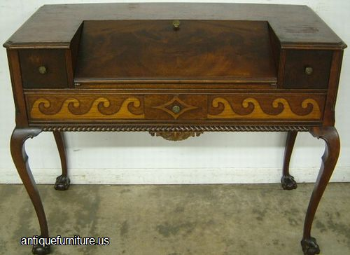 - Antique Burl Walnut Ball Claw Spinet Desk At Antique Furniture.US